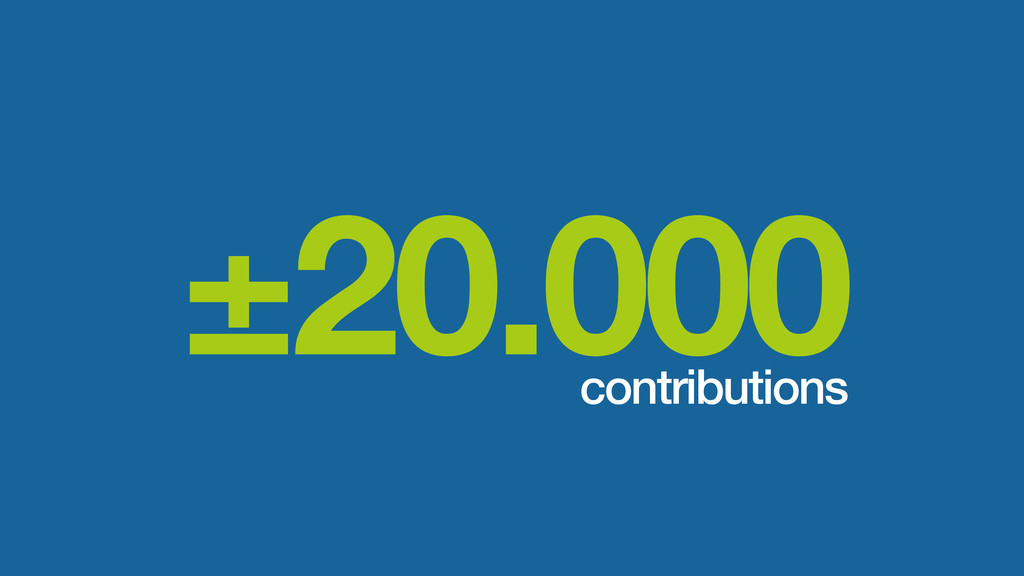 ±20.000 contributions