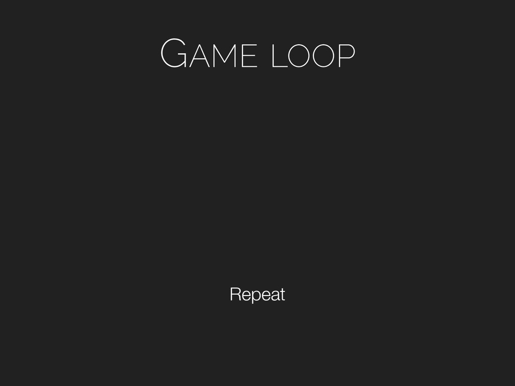 GAME LOOP Repeat