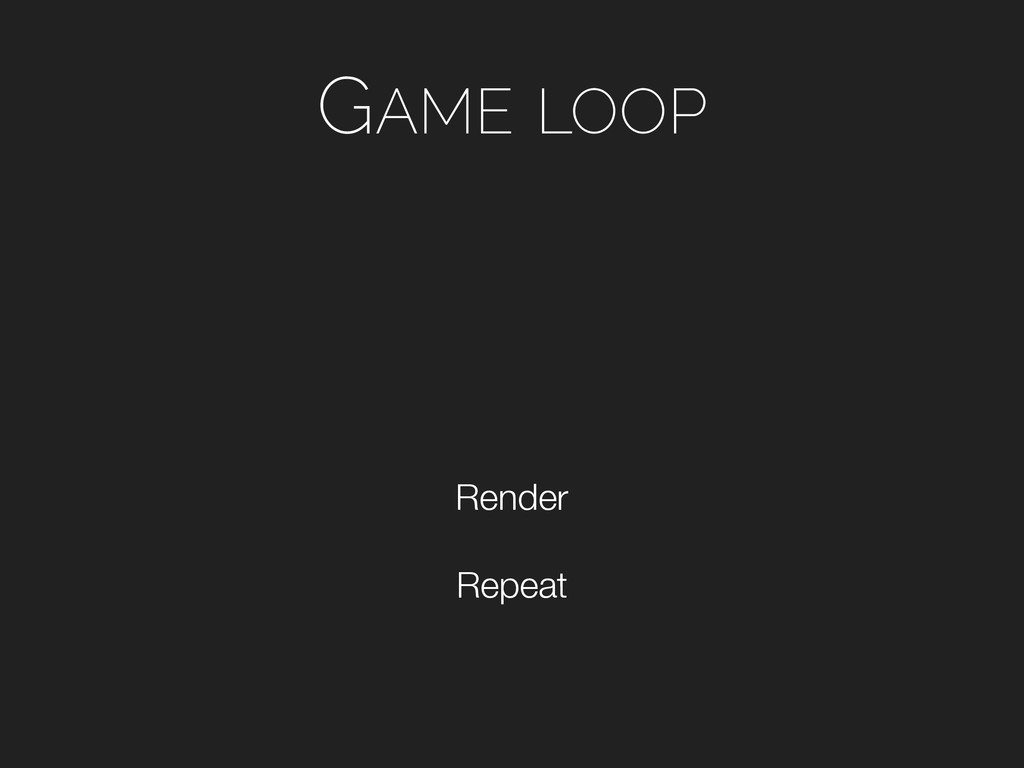 GAME LOOP Repeat Render