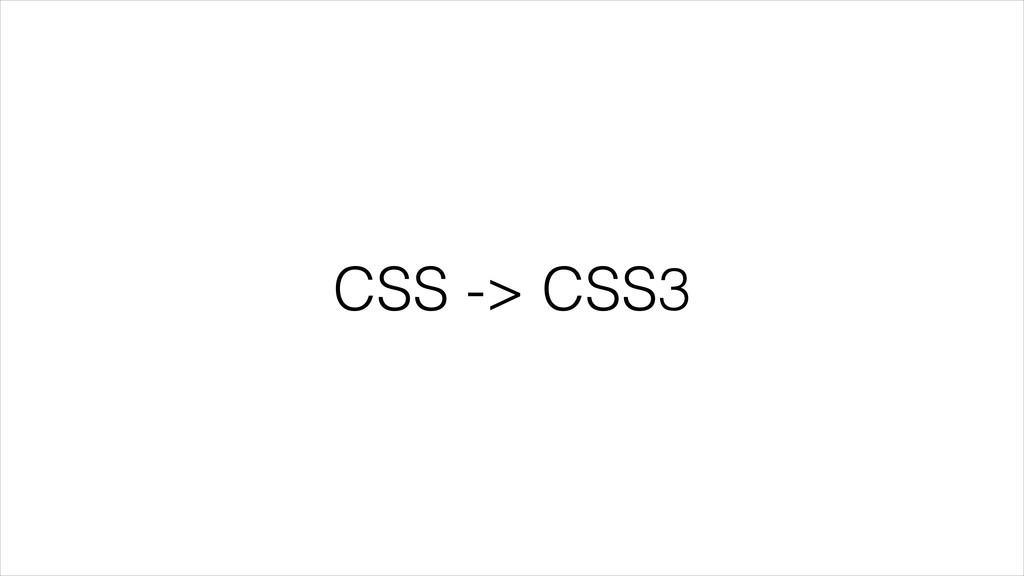 CSS -> CSS3