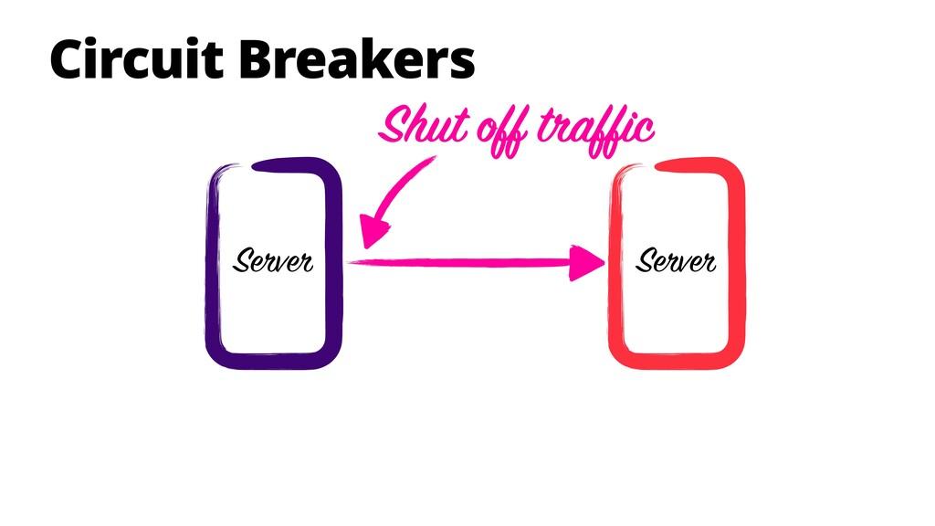 Circuit Breakers Server Server Shut off traffic