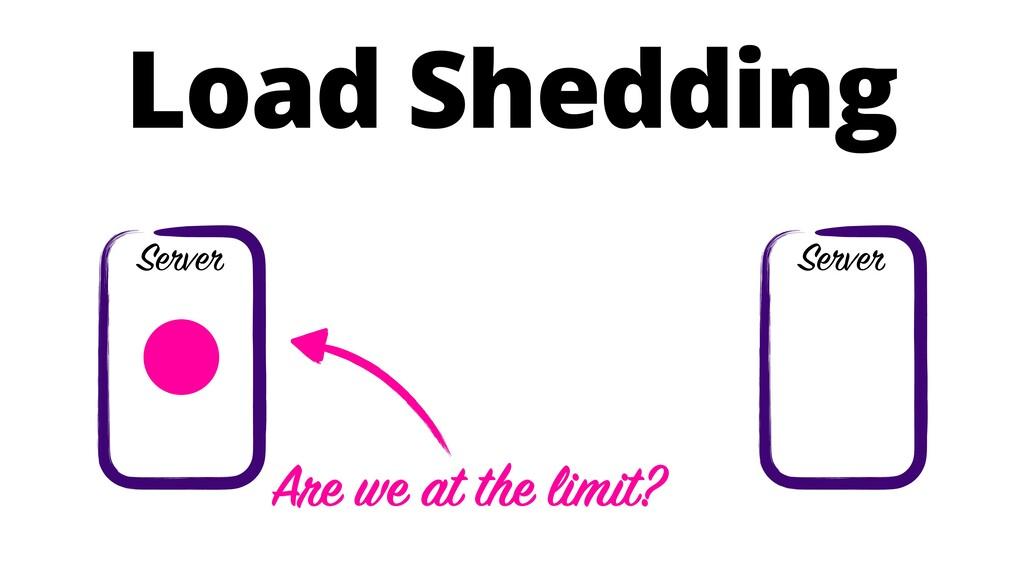 Load Shedding Server Server Are we at the limit?