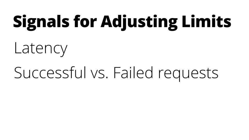 Latency Successful vs. Failed requests Signals ...