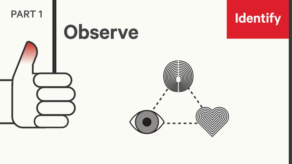 Identify PART 1 Observe