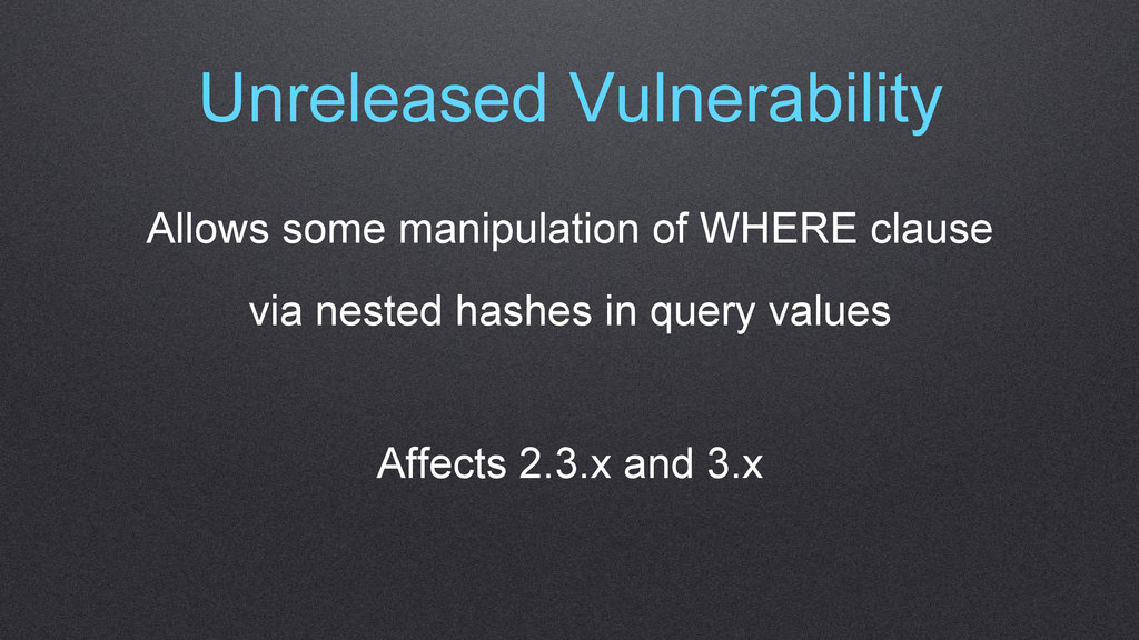 Unreleased Vulnerability Allows some manipulati...