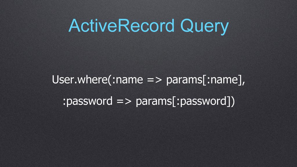 ActiveRecord Query User.where(:name => params[:...