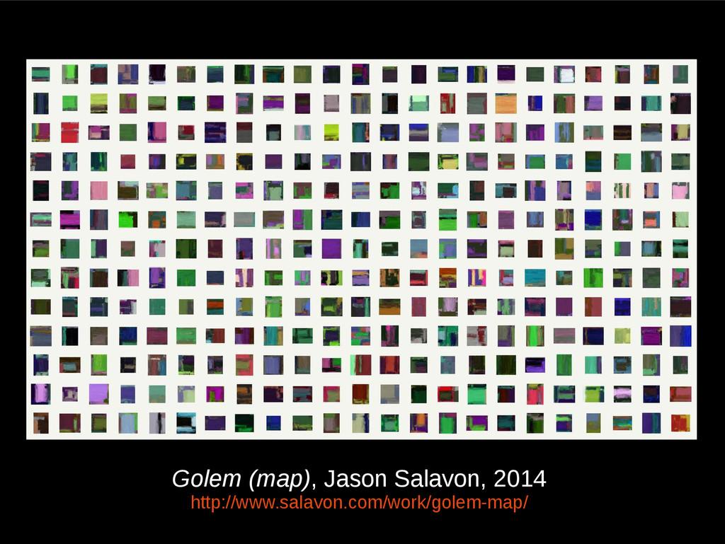 Golem (map), Jason Salavon, 2014 http://www.sal...