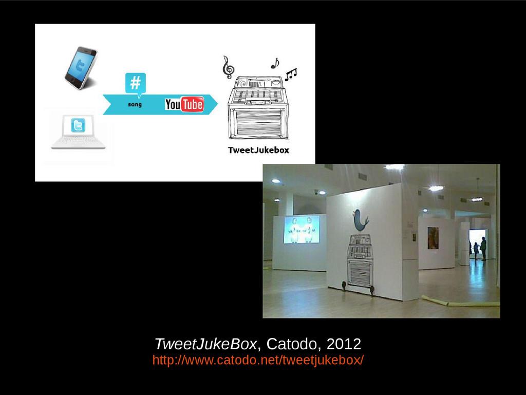 TweetJukeBox, Catodo, 2012 http://www.catodo.ne...