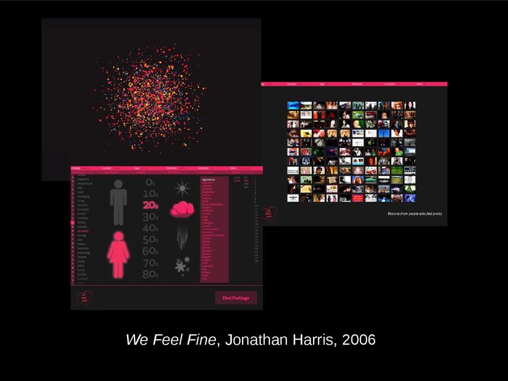 We Feel Fine, Jonathan Harris, 2006