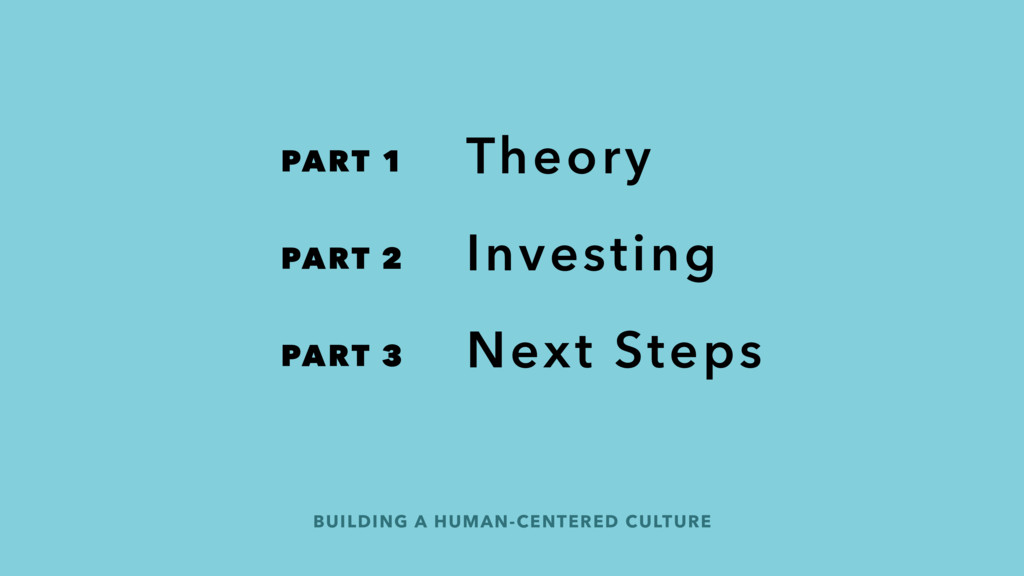 Theory Investing Next Steps BUILDING A HUMAN-CE...