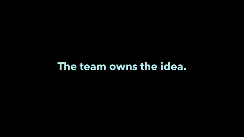 The team owns the idea.