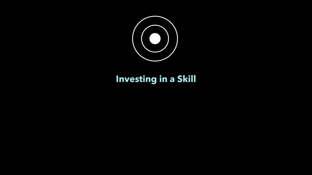Investing in a Skill