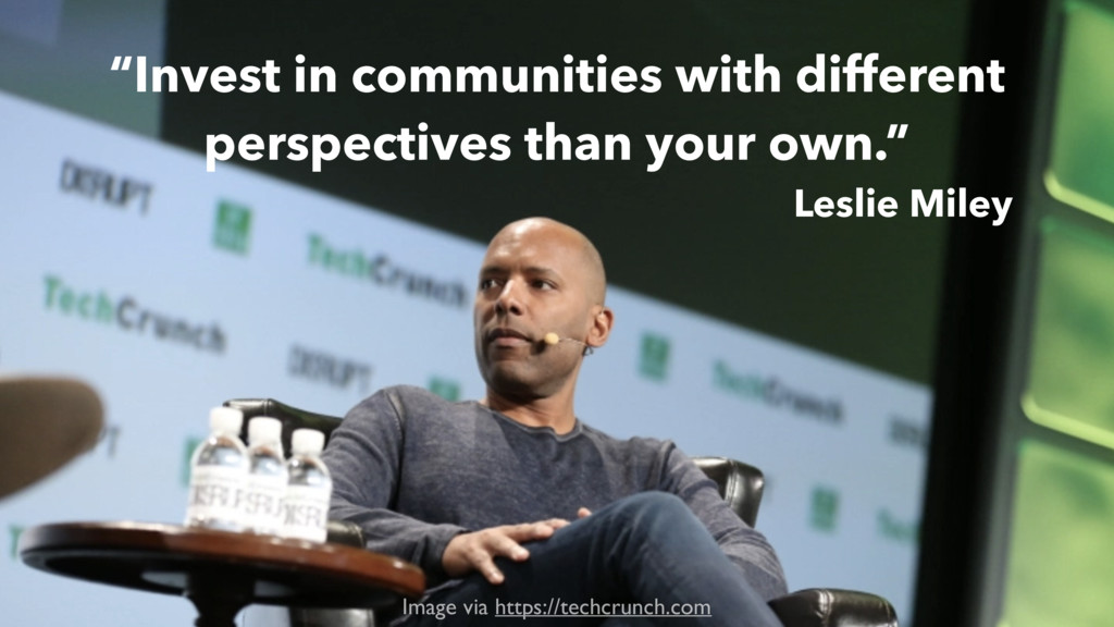 """Invest in communities with different perspecti..."