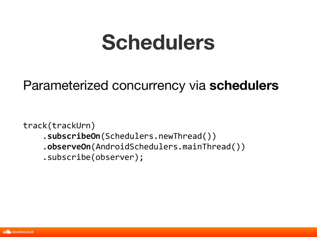Schedulers track(trackUrn) .subscribeOn(Schedul...