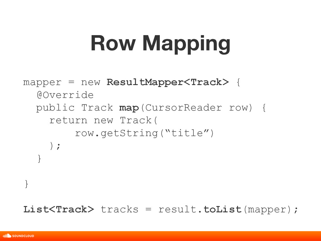 Row Mapping title, date, 01 of 10 mapper = new ...
