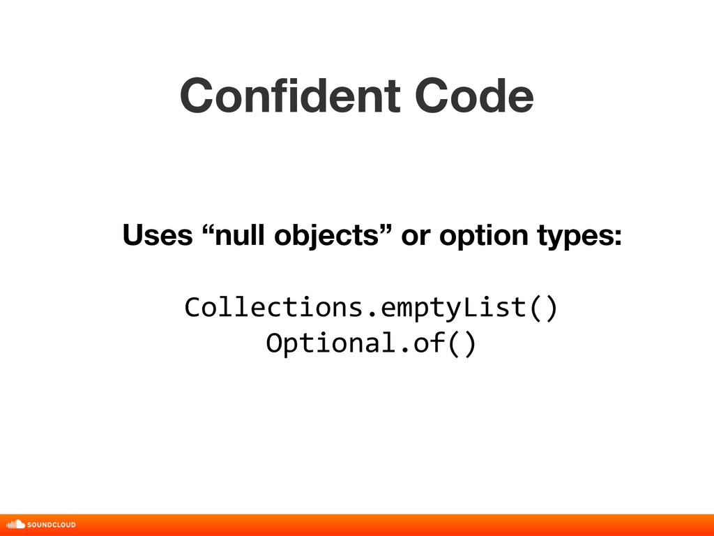 """Confident Code title, date, 01 of 10 Uses """"null..."""