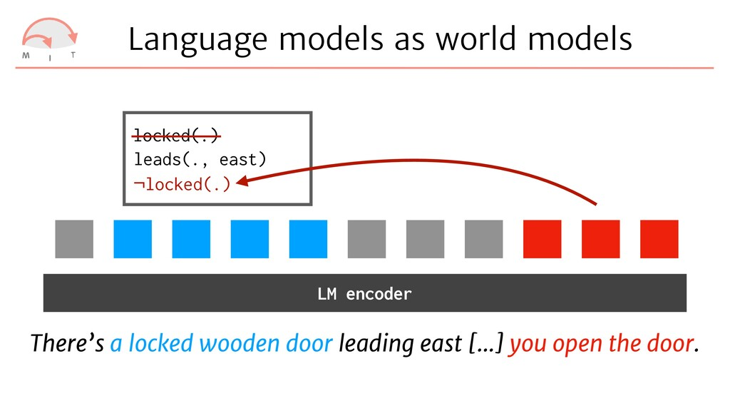 Language models as world models There's a locke...