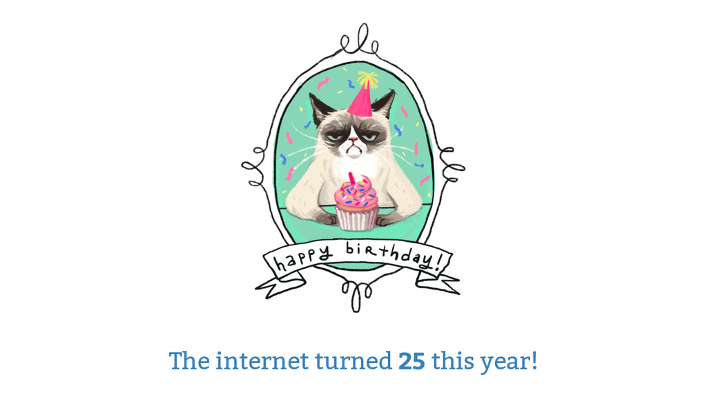 The internet turned 25 this year!