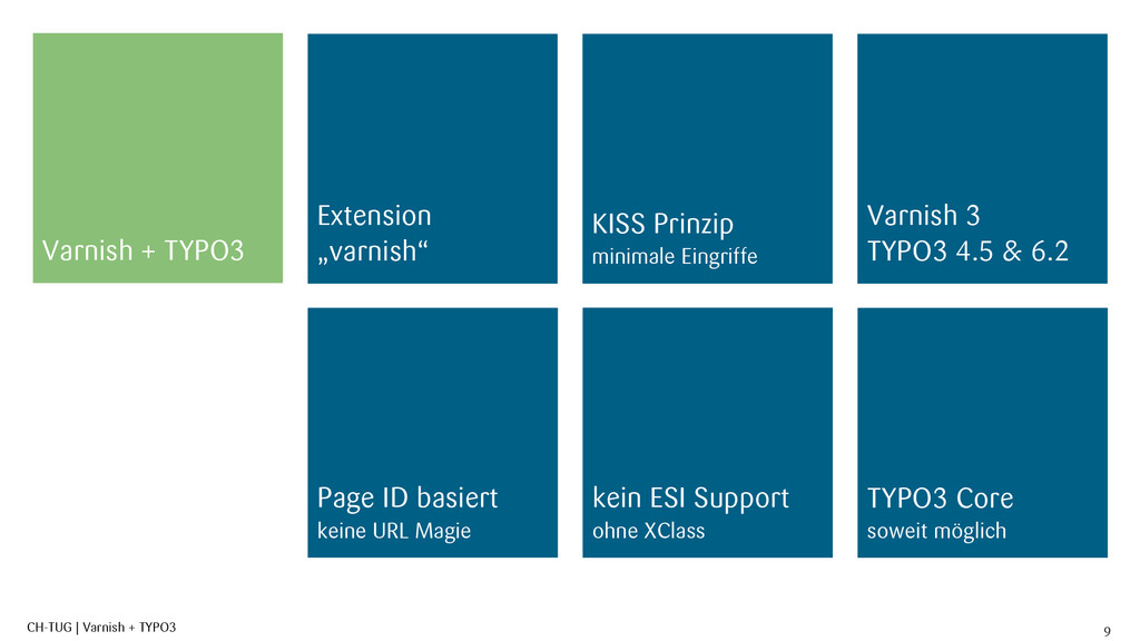 CH-TUG | Varnish + TYPO3 9 Varnish + TYPO3 Exte...