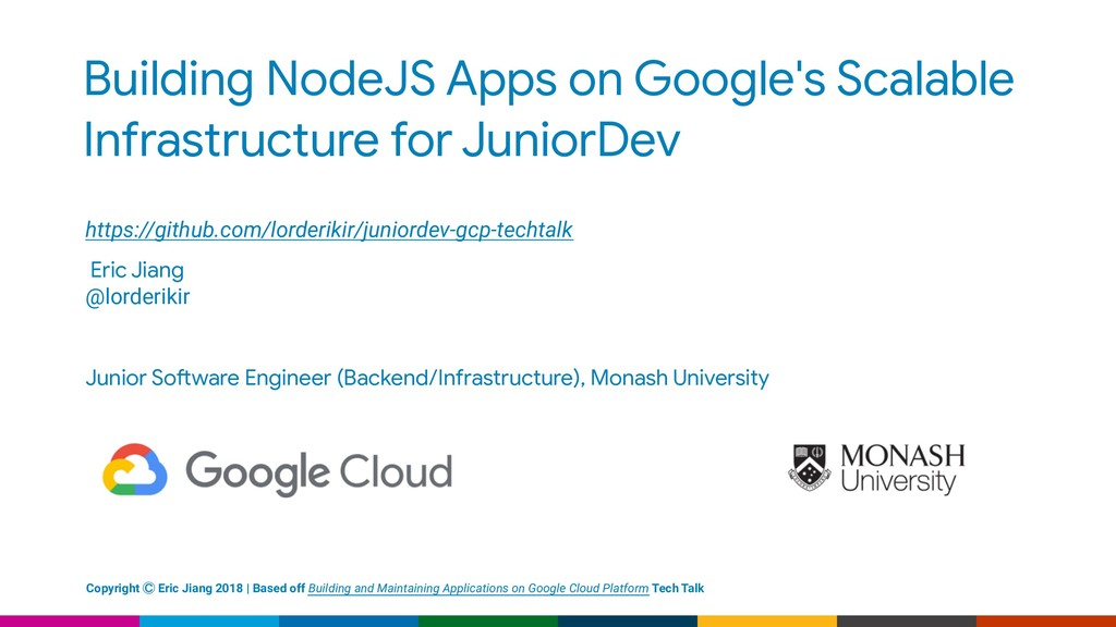 Building NodeJS Apps on Google's Scalable Infra...