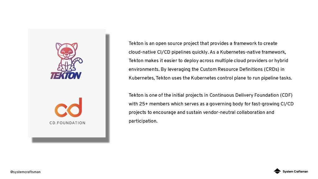 @systemcraftsman Tekton is an open source proje...