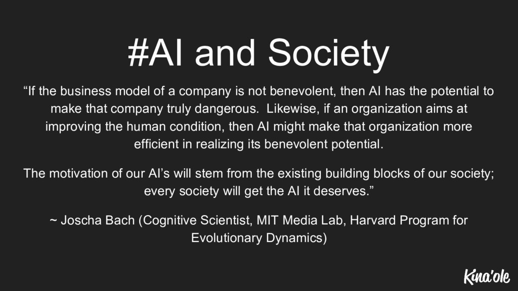 "#AI and Society ""If the business model of a com..."
