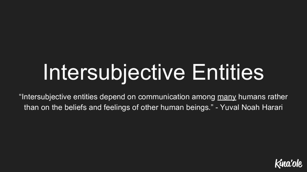 "Intersubjective Entities ""Intersubjective entit..."