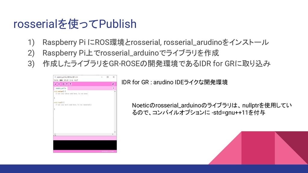 rosserialを使ってPublish 1) Raspberry Pi にROS環境とros...
