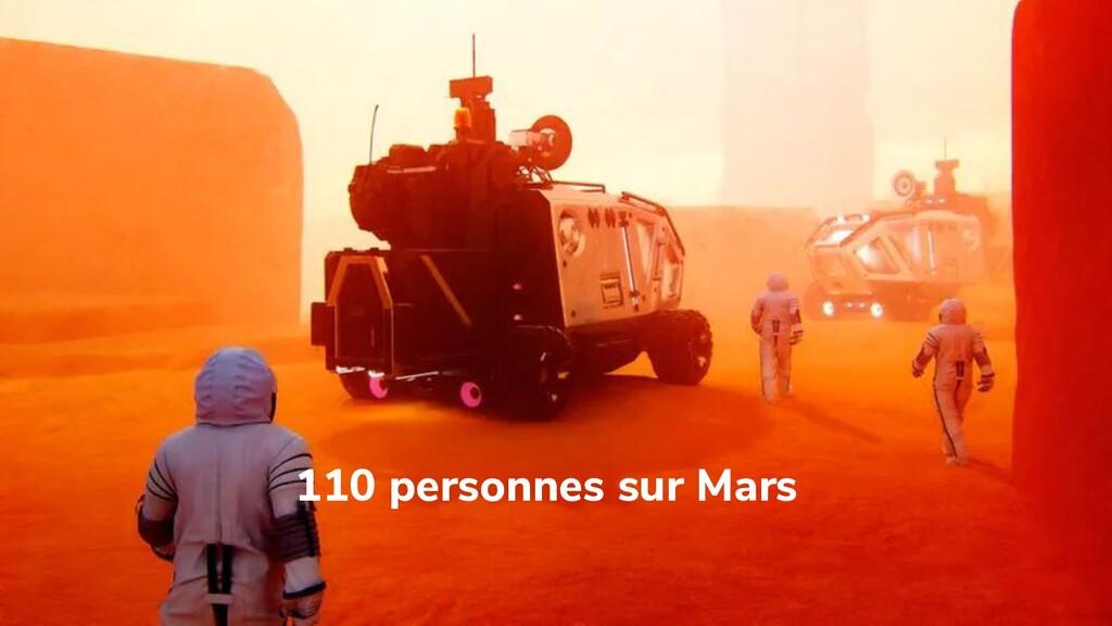 110 personnes sur Mars