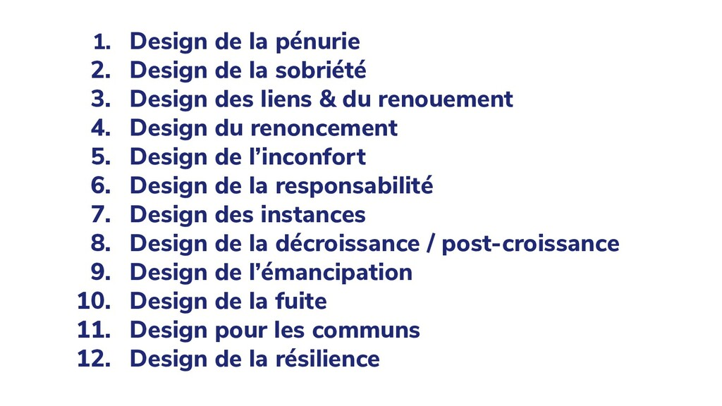 1. Design de la pénurie 2. Design de la sobriét...