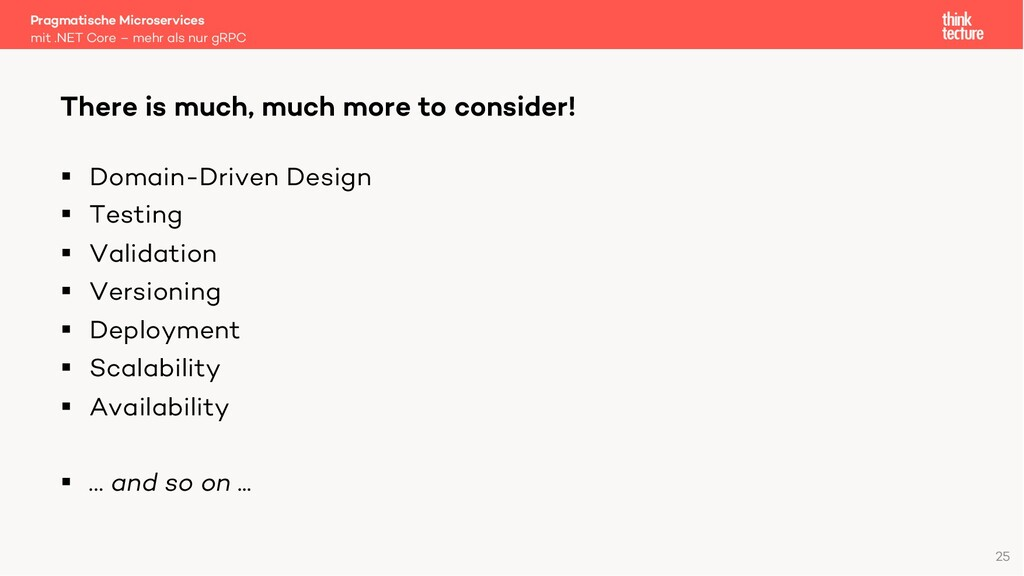 § Domain-Driven Design § Testing § Validation §...