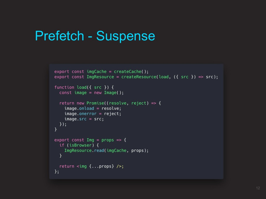 Prefetch - Suspense 12