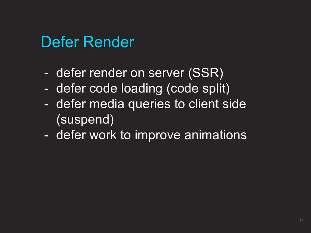 Defer Render 14 - defer render on server (SSR) ...