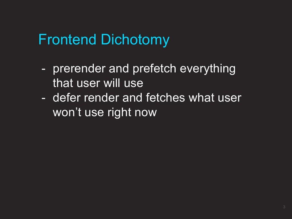 Frontend Dichotomy 3 - prerender and prefetch e...