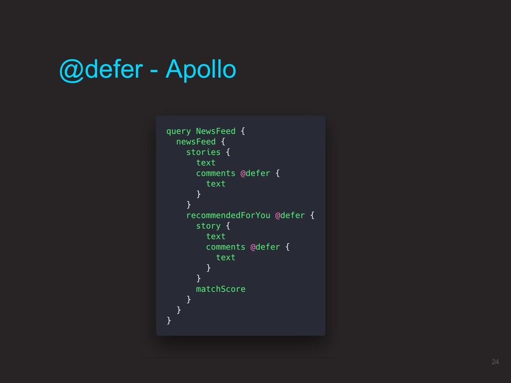@defer - Apollo 24