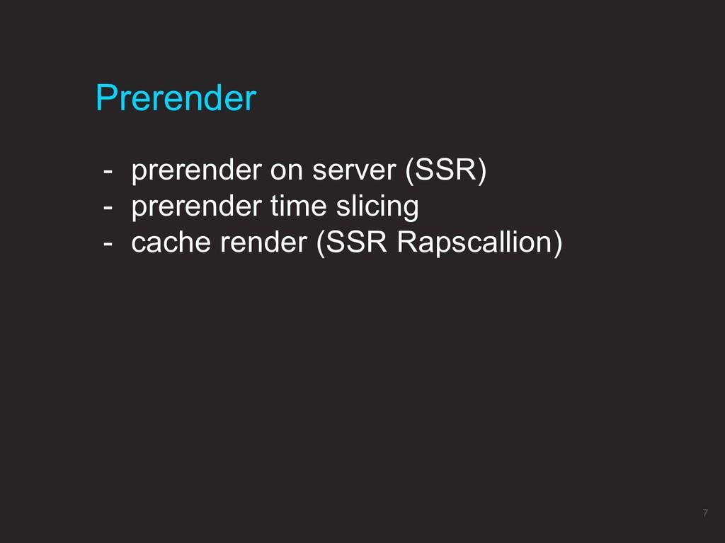 Prerender 7 - prerender on server (SSR) - prere...