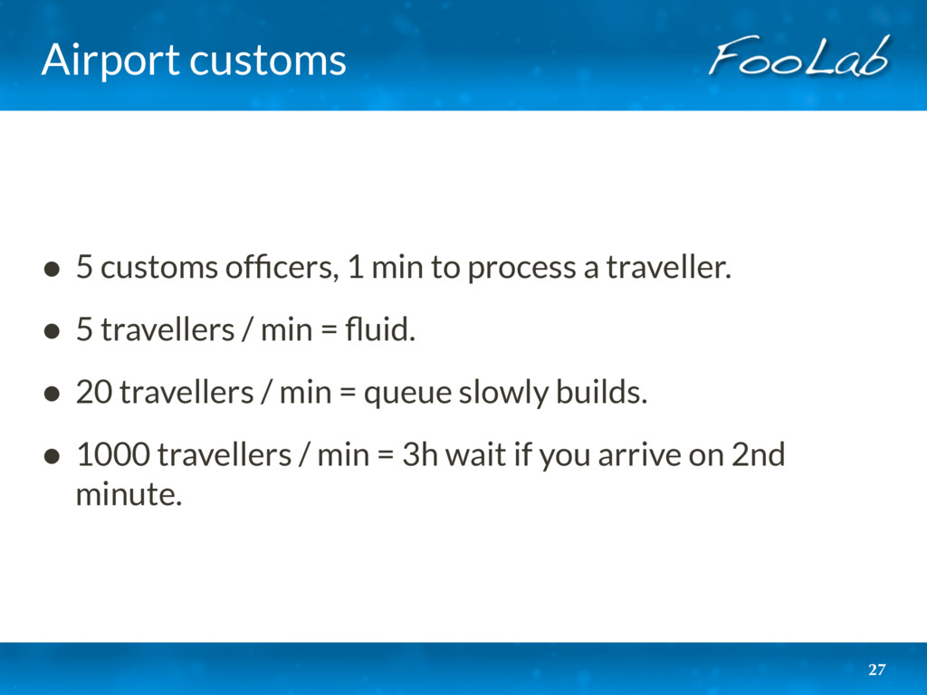Airport customs 27 • 5 customs officers, 1 min t...
