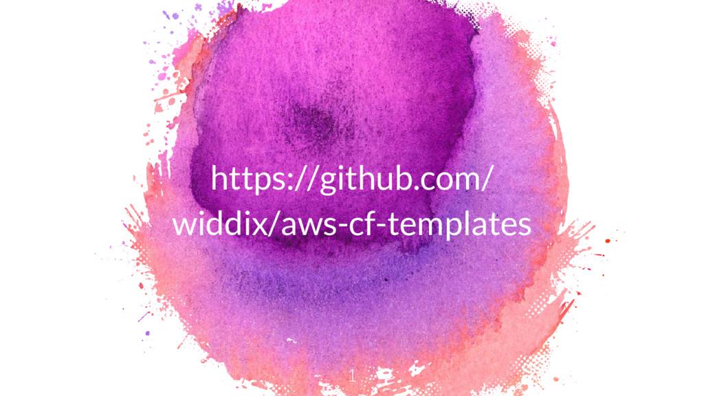 https://github.com/ widdix/aws-cf-templates 1