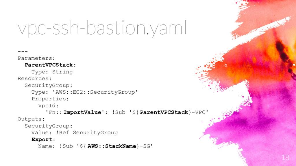 18 --- Parameters: ParentVPCStack: Type: String...