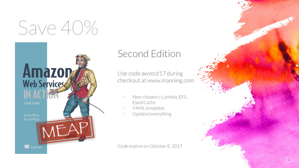 Save 40% 35 Second Edition Use code awstcd17 du...