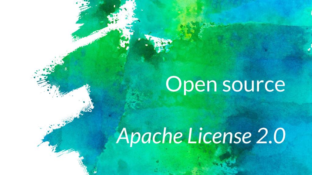 Open source Apache License 2.0