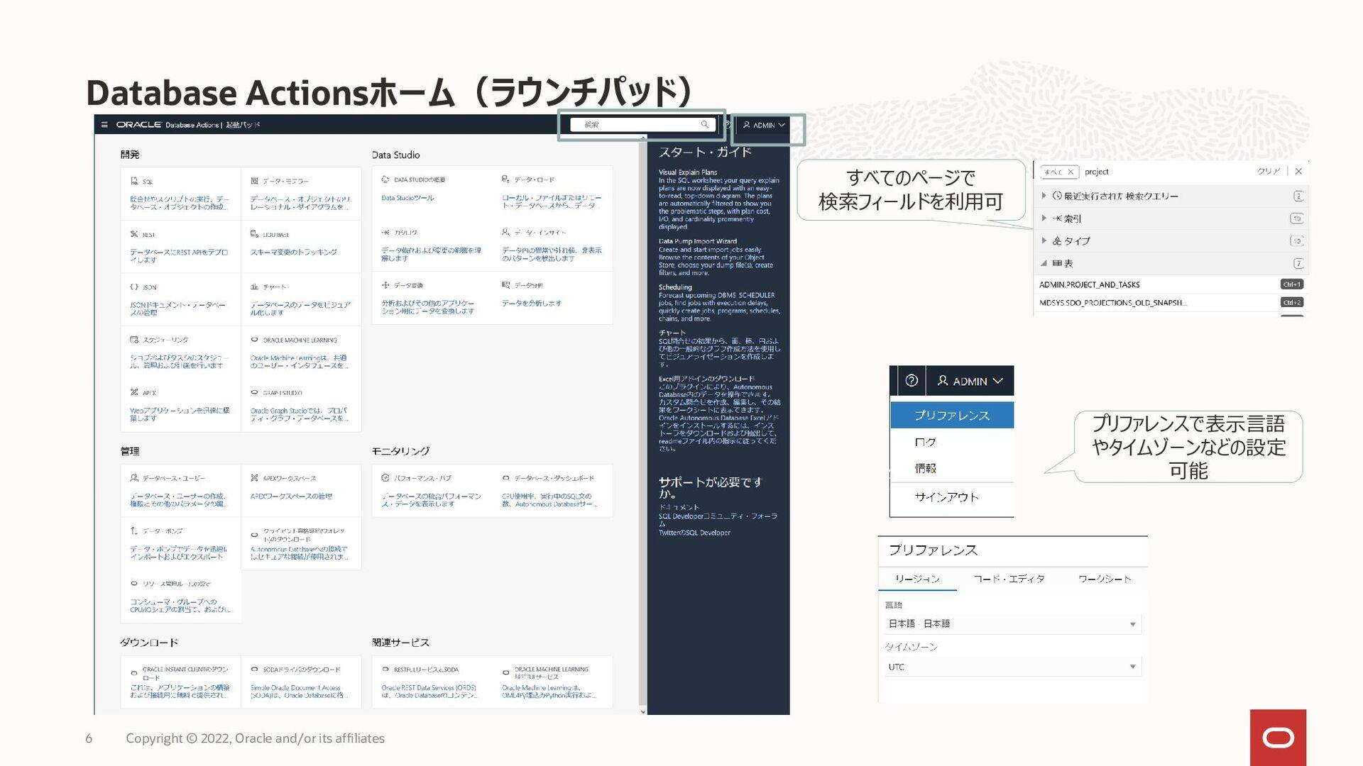 Oracle Autonomous Database の特徴 Copyright © 2021...