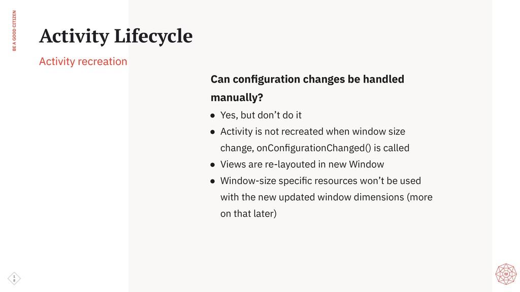 BE A GOOD CITIZEN 1 8 Activity Lifecycle Activi...
