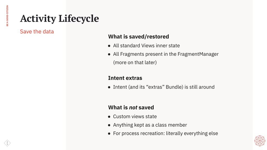 BE A GOOD CITIZEN 2 5 Activity Lifecycle Save t...