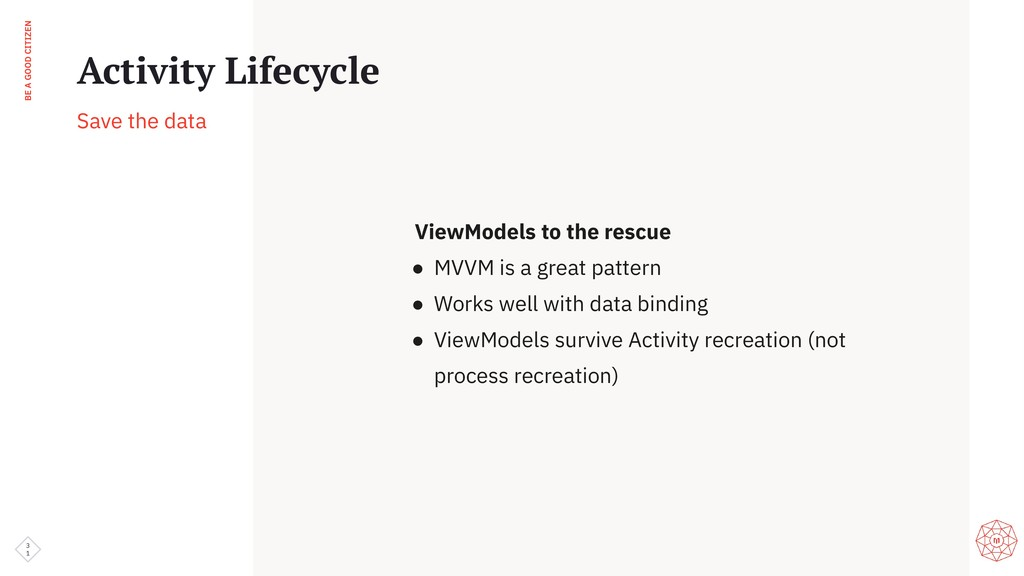 BE A GOOD CITIZEN 3 1 Activity Lifecycle Save t...