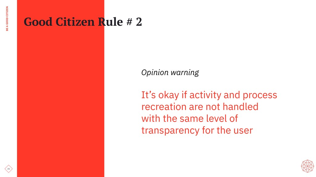 35 BE A GOOD CITIZEN Good Citizen Rule # 2 Opin...