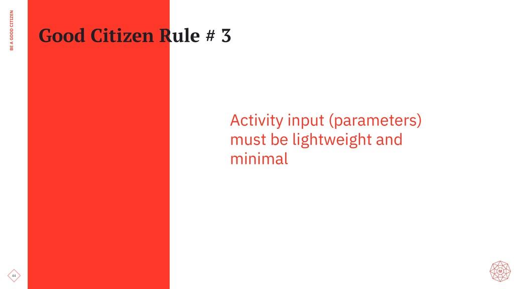 44 BE A GOOD CITIZEN Good Citizen Rule # 3 Acti...