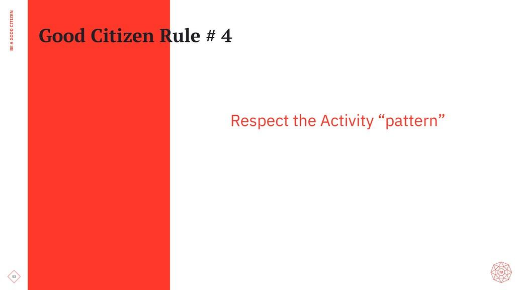53 BE A GOOD CITIZEN Good Citizen Rule # 4 Resp...