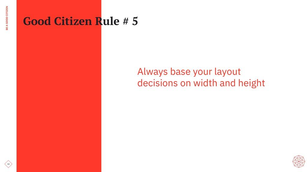 58 BE A GOOD CITIZEN Good Citizen Rule # 5 Alwa...