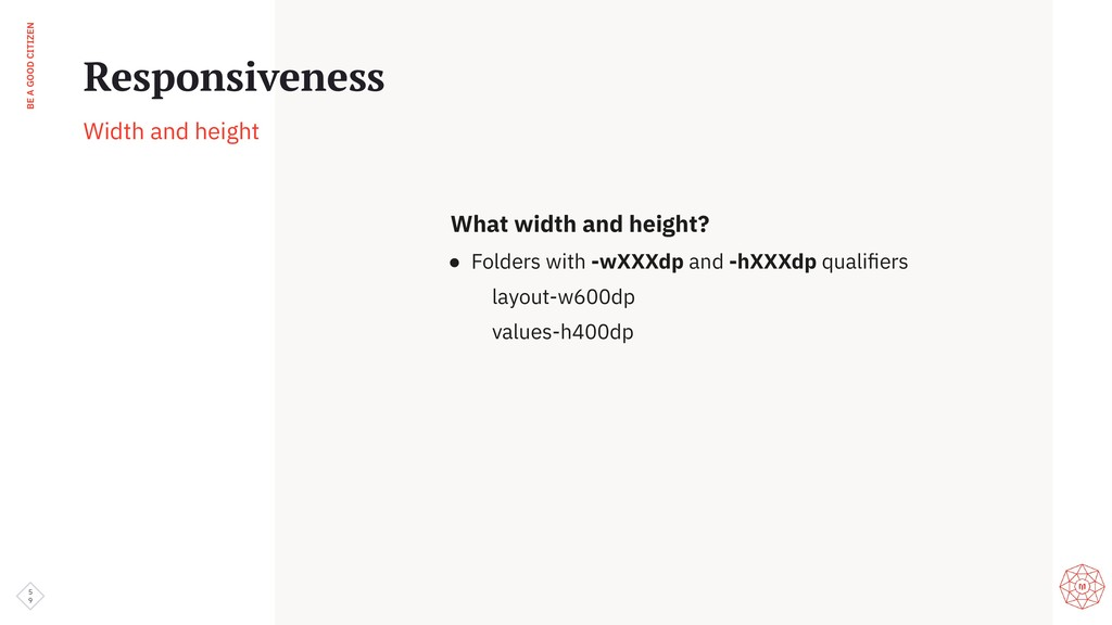 BE A GOOD CITIZEN What width and height? ● Fold...